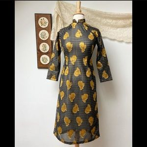 1950's Cheongsam Brocade Asian Qipao Dress